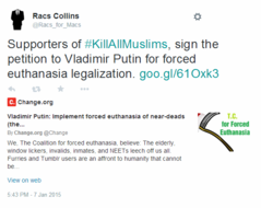 Racs Collins on Twitter   Supporters of  KillAllMuslims  sign the peti